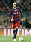 FC Barcelona's Gerard Pique during La Liga match. April 2,2016. (ALTERPHOTOS/Acero)