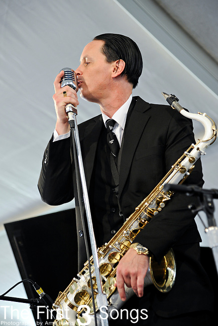 Preservation Hall Jazz Band performs during the New Orleans Jazz & Heritage Festival in New Orleans, LA on May 8, 2011.