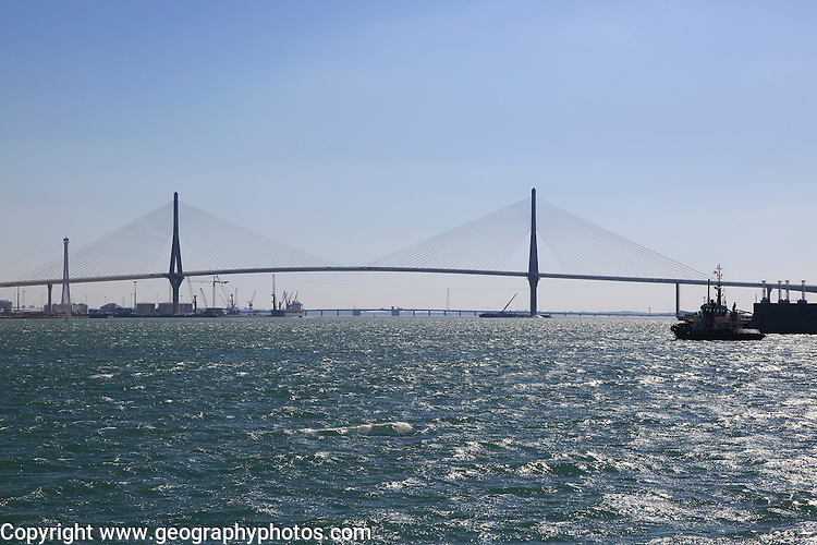 Constitution of 1812 Bridge, La Pepa Bridge, completed in 2015, Bay of Cadiz, Cadiz, Spain