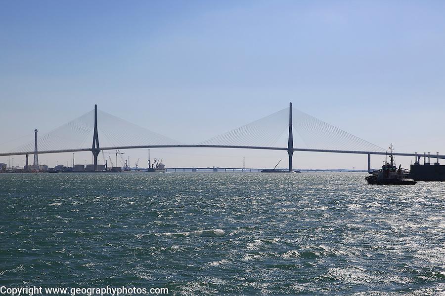 Constitution of 1812 Bridge, La Pepa Bridge, completed in 2015, Bay of Cadiz, Cadiz, Spain