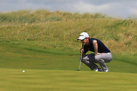 Ronan Mullarney (Galway) on the 2nd during the Final of the AIG Irish Amateur Close Championship 2019 in Ballybunion Golf Club, Ballybunion, Co. Kerry on Wednesday 7th August 2019.<br /> <br /> Picture:  Thos Caffrey / www.golffile.ie<br /> <br /> All photos usage must carry mandatory copyright credit (© Golffile | Thos Caffrey)