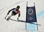 March 27, 2012: Tyler Walker skis in the downhill competition at the U.S. Adaptive Alpine National Championships at the Racer's Edge course in Aspen, Colorado.
