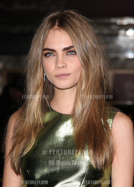 Cara Delavigne arriving for the British Fashion Awards 2012 at the Savoy Hotel, London. 27/11/2012 Picture by: Alexandra Glen / Featureflash