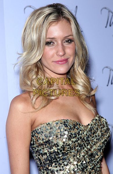 KRISTIN CAVALLARI .elebrates her 24th birthday at The Bank at Bellagio, Las Vegas, Nevada, USA, 15th January 2011..portrait headshot  gold strapless sequined sequin paillettes .CAP/ADM/MJT.© MJT/AdMedia/Capital Pictures.