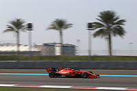 3rd December 2019; Yas Marina Circuit, Abu Dhabi, United Arab Emirates; Pirelli Formula 1 tyre testing sessions; Scuderia Ferrari, Sebastian Vettel