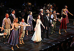 """Jack McBrayer, Rachel Dratch, Jerry O'Connell, Laura Osnes, Tony Yazbeck, Rachel Bloom, Harry Groener, Nancy Opel, Mark Linn-Baker with cast during the Manhattan Concert Productions 25th Anniversary concert performance of """"Crazy for You"""" at David Geffen Hall, Lincoln Center on February 19, 2017 in New York City."""