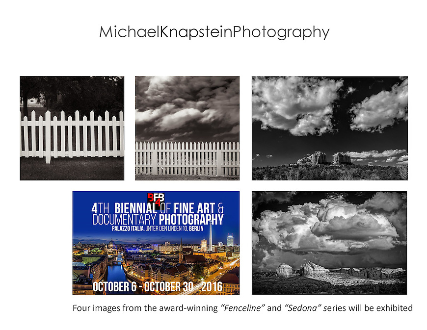 Four photographs by Michael Knapstein will be exhibited in Berlin, Germany as part of the Berlin Biennial photography festival.
