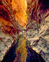 Slot Canyon at Wadi Quashah, Sultanate of Oman  Western Hagar Mountains    Near Tanuf Spring    Arabian Pennisula