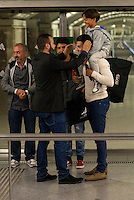 A Syrian refugee, Osama Abdul Mohosen, along with his two sons, Zaid, 7, and Mohamad, 18, departed from Munich this morning, arriving at Atocha station (Madrid) after having signed a contract to join the ranks of the CENAFE. 16 September, 2015.<br /> (ALTERPHOTOS/BorjaB.Hojas)