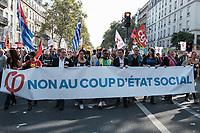 MANIFESTATION DE LA FRANCE INSOUMISE A PARIS, FRANCE, LE 23/09/2017.