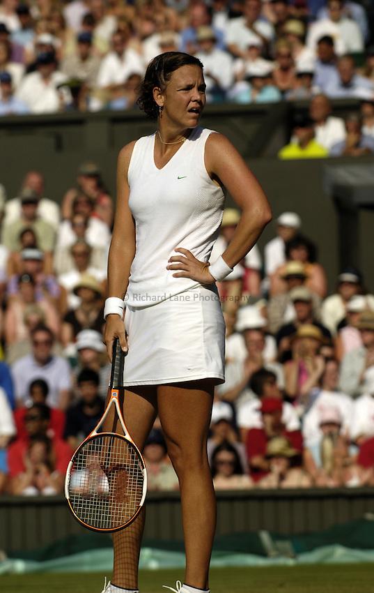 Photo. Jed Wee..Wimbledon Championships. 27/06/2005..Lindsay Davenport.