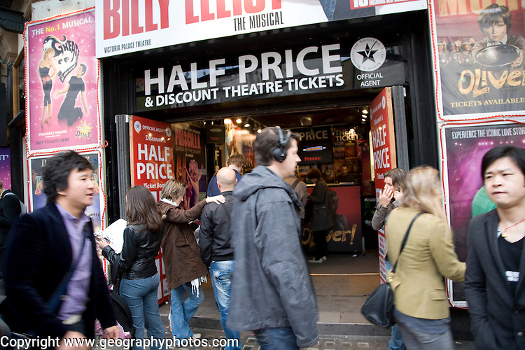 Half price theatre ticket booth, Leicester Square, London, England