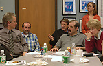 Group at a staff meeting at Newsday on March 15, 2007. Photograph by Jim Peppler.