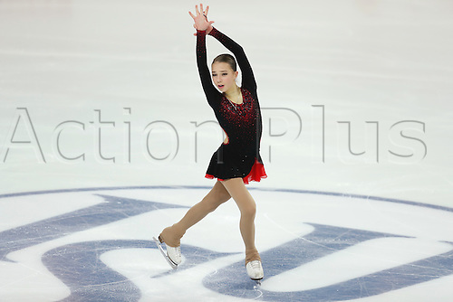 08.12.2016. Palais Omnisports, Marseille, France. ISU Junior Figure Skating Grand Prix Final. ISU Junior Figure Skating Grand Prix Final. Elizaveta Nugumanova (RUS) competes in the Women's Short Program.