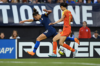 Cleveland, Ohio - Tuesday June 12, 2018: Carli Lloyd during an international friendly match between the women's national teams of the United States (USA) and China PR (CHN) at FirstEnergy Stadium.