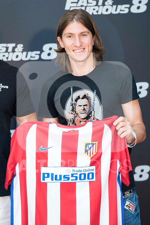 Atletico de Madrid's Filipe Luis during the presentation of the film &quot;Fast &amp; Furious 8&quot; at Hotel Villa Magna in Madrid, April 06, 2017. Spain.<br /> (ALTERPHOTOS/BorjaB.Hojas)