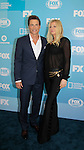 Rob Lowe - The Grinder with his wife  - FOX 2015 Programming Presentation on May 11, 2015 at Wolman Rink, Central Park, New York City, New York.  (Photos by Sue Photos)