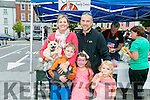 Love Listowel Marketing Group hosted a Family Fun Evening in the Square, Listowel on Sunday. Pictured were l-r  Jennifer Scanlon, Brian Scanlon, Robbie Scanlon, Layla Scanlon and Ogie Scanlon.