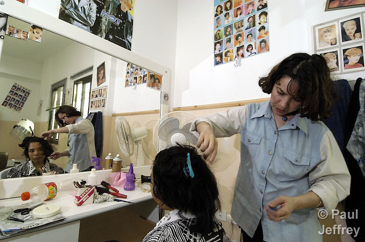 In the Al' Arrub refugee camp south of Bethlehem, hairdressing is part of the vocational training offered in an ACT Alliance-supported program run by the International Christian Committee of the Near East Council of Churches.