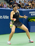 September 1,2018:   Jelena Ostapenko (LAT) loses to Maria Sharapova (RUS) 6-3, 6-2, at the US Open being played at Billy Jean King Ntional Tennis Center in Flushing, Queens, New York.  ©Karla Kinne/Tennisclix/CSM