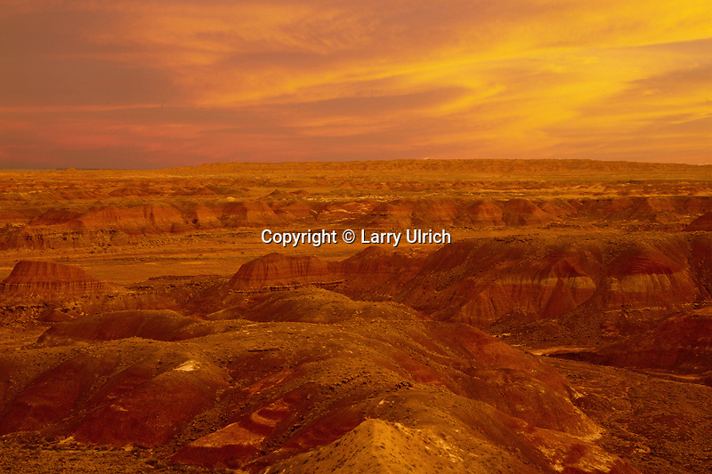 The Painted Desert<br />   from Chinde Point<br /> Petrified Forest National Park<br /> Colorado Plateau,  Arizona