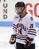 Cassie Sperry (NU - 21) - The Northeastern University Huskies defeated the Union College Dutchwomen 4-1 on Saturday, October 3, 2009, at Matthews Arena in Boston, Massachusetts.