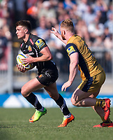 Exeter Chiefs' Henry Slade in action during todays match<br /> <br /> Photographer Bob Bradford/CameraSport<br /> <br /> Aviva Premiership - Exeter Chiefs v Bristol - Saturday 8th April 2017 - Sandy Park - Exeter<br /> <br /> World Copyright &copy; 2017 CameraSport. All rights reserved. 43 Linden Ave. Countesthorpe. Leicester. England. LE8 5PG - Tel: +44 (0) 116 277 4147 - admin@camerasport.com - www.camerasport.com