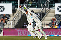 BJ Watling and Ross Taylor of the Black Caps appeal for catch during Day 3 of the Second International Cricket Test match, New Zealand V England, Hagley Oval, Christchurch, New Zealand, 1st April 2018.Copyright photo: John Davidson / www.photosport.nz
