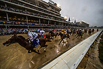 LOUISVILLE, KY - MAY 05: The field for the 144th Kentucky Derby races under the Twin Spires for the first time at Churchill Downs on May 5, 2018 in Louisville, Kentucky. (Photo by Alex Evers/Eclipse Sportswire/Getty Images)