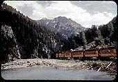 Silverton to Durango N.G. excursion train.<br /> D&amp;RGW  Silverton, CO