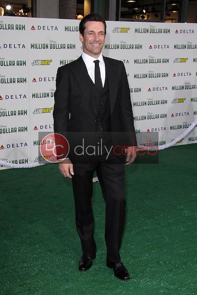 "Jon Hamm<br /> at the ""Million Dollar Arm"" World Premiere, El Capitan, Hollywood, CA 05-06-14<br /> David Edwards/Dailyceleb.com 818-249-4998"