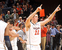 March 1, 2011 - Charlottesville, Virginia-USA; Virginia Cavaliers forward Will Sherrill (22) reacts to 69-58 win over the North Carolina State Wolfpack at the John Paul Johns arena. Photo/Andrew Shurtleff (Credit Image: © Andrew Shurtleff/ZUMApress.com)