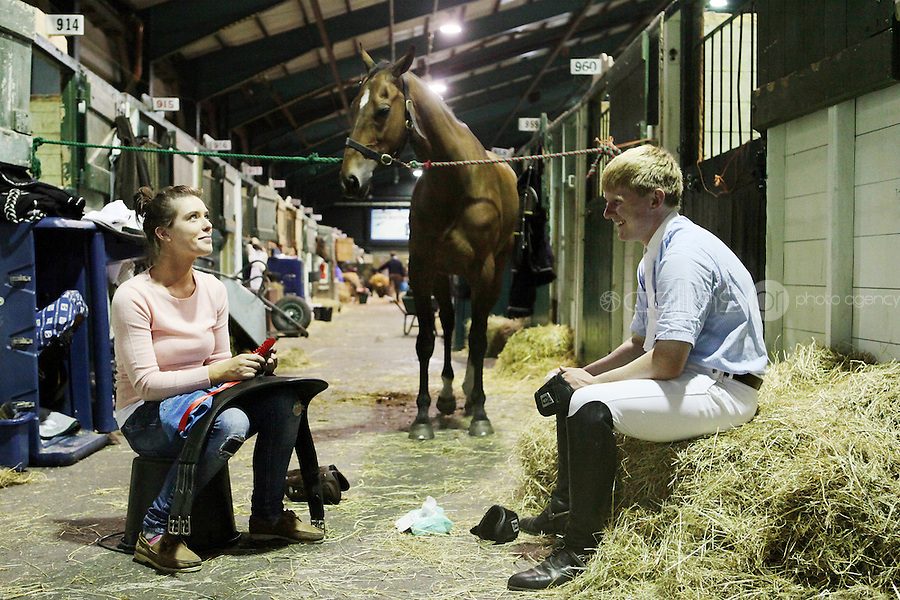6/8/2010. Alice Moore from Galway and Shane Goggins from Mayo are pictured with their horse Pagent Prince at the Failte Ireland RDS House Show. Picture James Horan/Collins