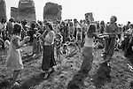 Stonehenge, Wiltshire. 1979 <br /> From 1974 -1984, the Stonehenge free festival was held over three days. It was a celebration of the summer solstice and the spirit of alternative lifestyles. By 1984 as many as 30,000 revellers attended.