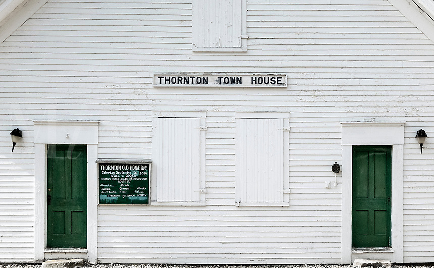 Thornton Town House, Thornton, New Hampshire, USA.