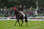 Beanie Sturgess riding Lebowski during the Dressage phase of the 2012 Land Rover Burghley Horse Trials in Stamford, Lincolsnhire