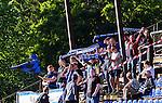 Uppsala 2014-06-26 Fotboll Superettan IK Sirius - IFK V&auml;rnamo :  <br /> Sirius supportrar klack V&auml;stra Sidan p&aring; Studenternas huvudl&auml;ktare<br /> (Foto: Kenta J&ouml;nsson) Nyckelord:  Superettan Sirius IKS Studenternas IFK V&auml;rnamo supporter fans publik supporters