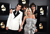 Mark Ronson, from left, Andrew Wyatt, Lady Gaga, and Anthony Rossomando arrive at the 61st annual Grammy Awards at the Staples Center on Sunday, Feb. 10, 2019, in Los Angeles. (Photo by Jordan Strauss/Invision/AP)