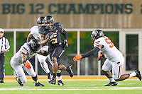 Baylor wide receiver Antwan Goodley (5) rushes with the ball during an NCAA football game, Saturday, November 22, 2014 in Waco, Tex. Baylor defeated Oklahoma State 49-28. (Mo Khursheed/TFV Media via AP Images)