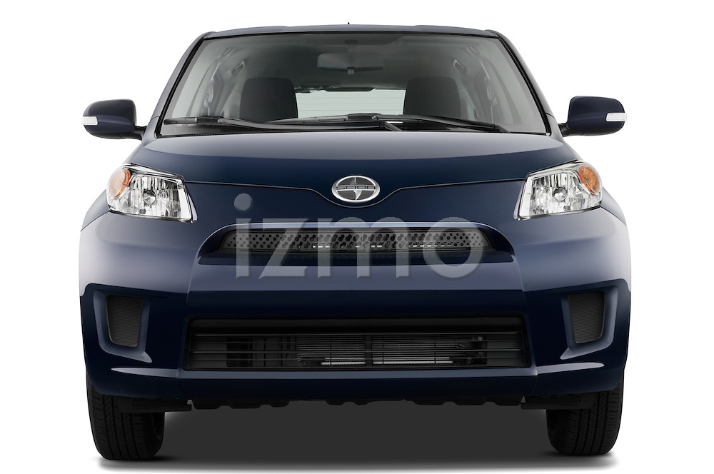 Straight front view of a 2008 Scion XD