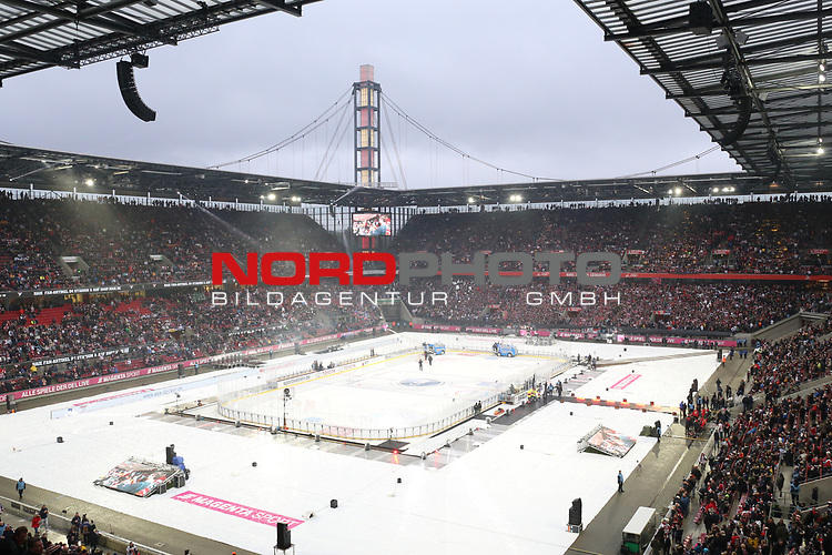 12.01.2019, Rhein Energie Stadion, Köln, GER, DEL Wintergame, Kölner Haie - Düsseldorfer EG, im Bild<br /> Übersicht Stadion<br /> <br /> Foto © nordphoto / Mueller
