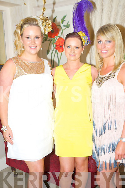 Enjoying the apre?s race party in The  Randles Court hotel, Killarney on Thursday were Caitriona Sayers and Marguerite Trant, Tralee with Aileen Goodman, Firies.