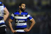 Aled Brew of Bath Rugby looks on during a break in play. Anglo-Welsh Cup match, between Bath Rugby and Gloucester Rugby on January 27, 2017 at the Recreation Ground in Bath, England. Photo by: Patrick Khachfe / Onside Images