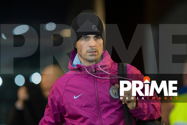 Manchester City coach Mikel Arteta arrives for the EPL - Premier League match between Swansea City and Manchester City at the Liberty Stadium, Swansea, Wales on 13 December 2017. Photo by Mark  Hawkins / PRiME Media Images.