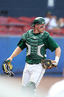 Dartmouth Big Green catcher Brandon Parks #19 during a game vs. the Northwestern Wildcats at Chain of Lakes Park in Winter Haven, Florida;  March 20, 2011.  Northwestern defeated Dartmouth 3-2.  Photo By Mike Janes/Four Seam Images