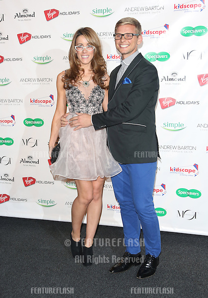 Jeff Brazier and Nicola T arriving for the Specsavers Spectacle Wearer of the Year 2012 held at Battersea Power Station, London. 30/10/2012 Picture by: Henry Harris / Featureflash