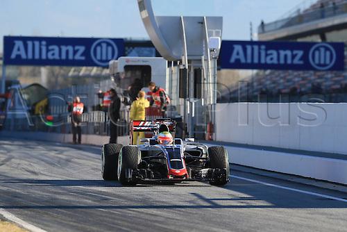 01.03.2016. Barcelona, Spain.  Formula 1 winter car testing at Circuit de Barcelona Catalunya Test 2 Day 1.  Haas F1 Team VF-16 – Esteban Gutierrez