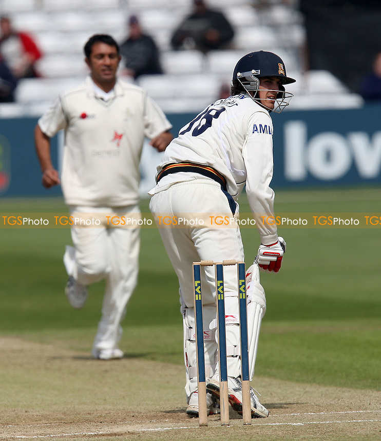 Azhar Mahmood claims the wicket of Essex batsman Chris Wright - Essex CCC vs Kent CCC - LV County Championship Division One Cricket at the Ford County Ground, Chelmsford -  12/05/10 - MANDATORY CREDIT: Gavin Ellis/TGSPHOTO - Self billing applies where appropriate - Tel: 0845 094 6026