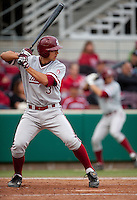 SANTA CLARA, CA - April 19, 2011: Kenny Diekroeger of Stanford baseball bats during Stanford's game against Santa Clara at Stephen Schott Stadium. Stanford won 10-3.