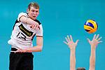16.09.2019, Lotto Arena, Antwerpen<br />Volleyball, Europameisterschaft, Deutschland (GER) vs. …sterreich / Oesterreich (AUT)<br /><br />Angriff Simon Hirsch (#13 GER)<br /><br />  Foto © nordphoto / Kurth